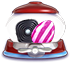 Liquorice swirl Vertical striped candy cannon