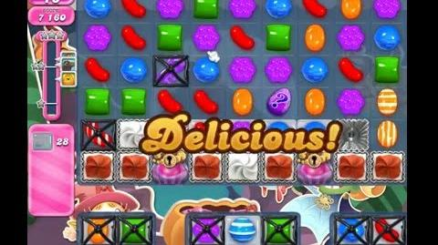 Candy Crush Saga Level 1303 ( New with 24 Moves ) ( 2 stars ) No Boosters