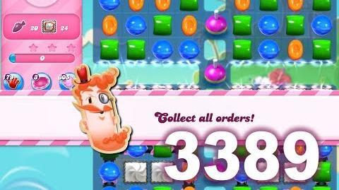 Candy Crush Saga Level 3389 (No boosters)