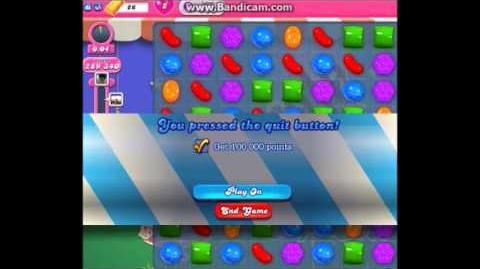 Candy Crush Saga Timed Level Glitch