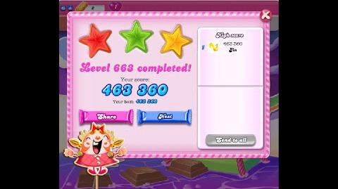 Candy Crush Saga Level 663 ★★★ NO BOOSTER