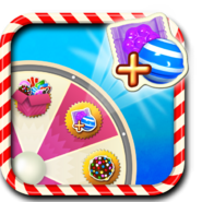Striped and Wrapped booster wheel icon