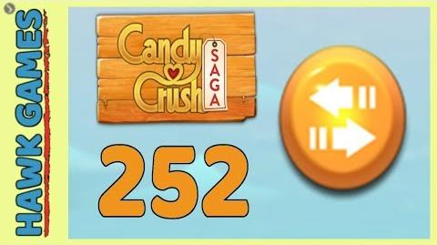 Candy Crush Saga Level 252 (Moves level) - 3 Stars Walkthrough, No Boosters