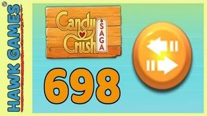 Candy Crush Saga Level 698 (Moves level) - 3 Stars Walkthrough, No Boosters