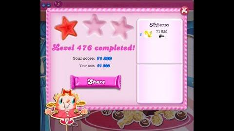 Candy Crush Saga Level 476 NO BOOSTER