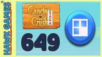 Candy Crush Saga Level 649 Nightmarishly hard (Jelly level) - 3 Stars Walkthrough, No Boosters