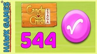Candy Crush Saga Level 544 (Candy Order level) - 3 Stars Walkthrough, No Boosters