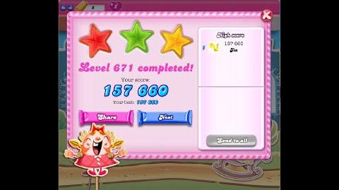 Candy Crush Saga Level 671 ★★★ NO BOOSTER