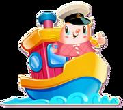Tiffi on the boat