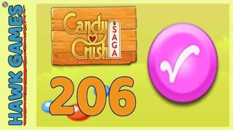 Candy Crush Saga Level 206 (Candy Order level) - 3 Stars Walkthrough, No Boosters