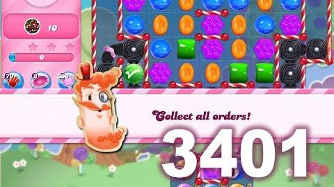 Candy Crush Saga Level 3401 (3 stars, No boosters)