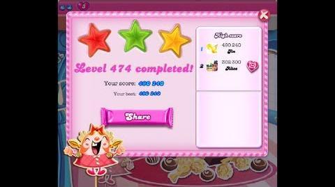 Candy Crush Saga Level 474 ★★★ NO BOOSTER-0