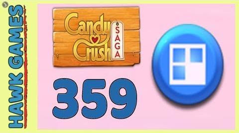 Candy Crush Saga Level 359 (Jelly level) - 3 Stars Walkthrough, No Boosters