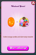 Weekend Event - Collect some Orange Candy Start Collecting