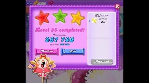 Candy Crush Saga Dreamworld Level 25 ★★★ 3 Stars