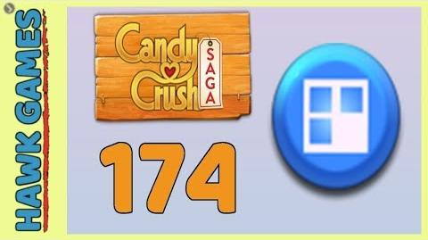 Candy Crush Saga Level 174 (Jelly level) - 3 Stars Walkthrough, No Boosters