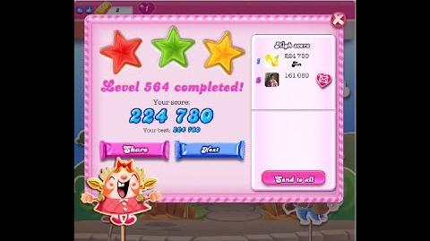 Candy Crush Saga Level 564 ★★★ NO BOOSTER