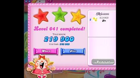 Candy Crush Saga Level 641 ★★★ NO BOOSTER