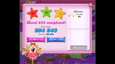 Candy Crush Saga Level 652 ★★★ NO BOOSTER