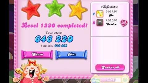Candy Crush Saga Level 1230 ★★★ NO BOOSTER