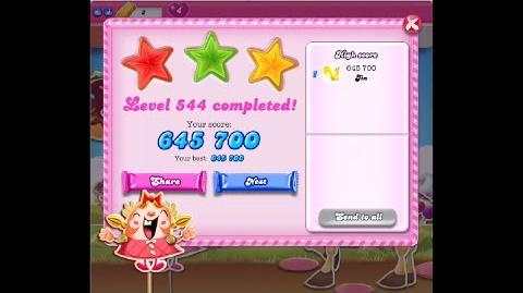 Candy Crush Saga Level 544 ★★★ NO BOOSTER