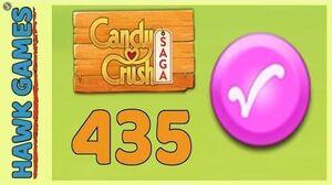 Candy Crush Saga Level 435 Nightmarishly hard (Candy Order level) - 3 Stars Walkthrough, No Boosters