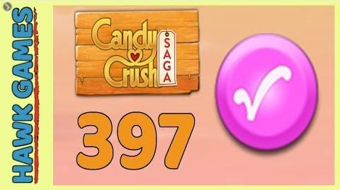 Candy Crush Saga Level 397 (Candy Order level) - 3 Stars Walkthrough, No Boosters