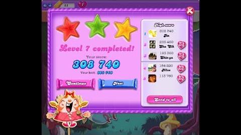 Candy Crush Saga Dreamworld Level 7 ★★★ 3 Stars