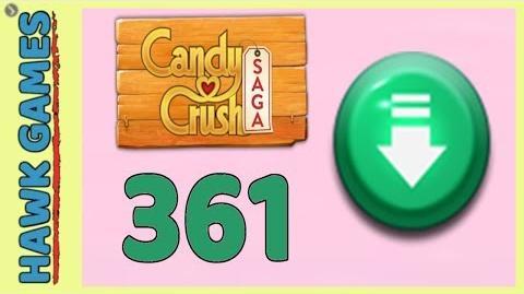 Candy Crush Saga Level 361 (Ingredients level) - 3 Stars Walkthrough, No Boosters