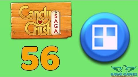 Candy Crush Saga 🎪 Level 56 (Jelly level) - 3 Stars Walkthrough, No Boosters