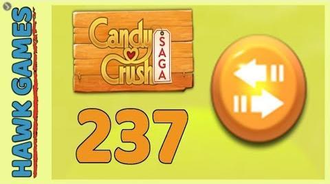 Candy Crush Saga Level 237 (Moves level) - 3 Stars Walkthrough, No Boosters