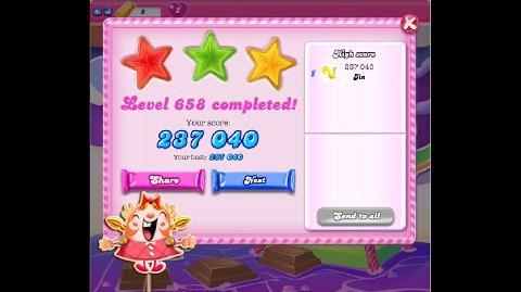 Candy Crush Saga Level 658 ★★★ NO BOOSTER