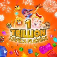 1 trillion levels played