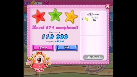 Candy Crush Saga Level 674 ★★★ NO BOOSTER