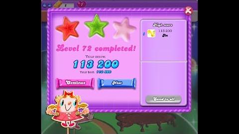 Candy Crush Saga Dreamworld Level 72 ★★