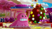 Bubblegum Troll sensing danger in the CCS Tv ad