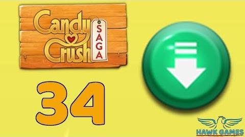 Candy Crush Saga 🎪 Level 34 (Ingredients level) - 3 Stars Walkthrough, No Boosters