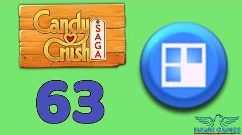 Candy Crush Saga 🎪 Level 63 (Jelly level) - 3 Stars Walkthrough, No Boosters