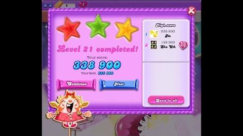 Candy Crush Saga Dreamworld Level 21 ★★★ 3 Stars