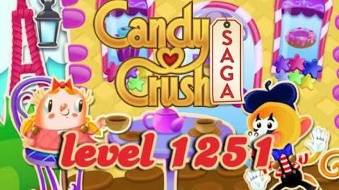 Candy Crush Saga Level 1251 - ★★★