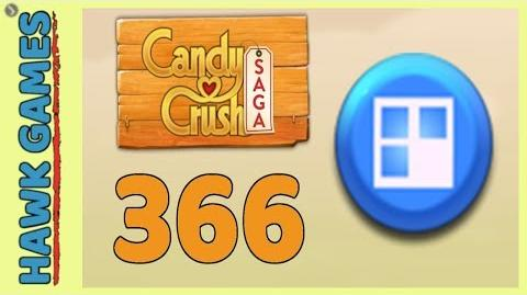 Candy Crush Saga Level 366 (Jelly level) - 3 Stars Walkthrough, No Boosters