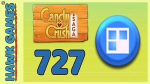 Candy Crush Saga Level 727 (Jelly level) - 3 Stars Walkthrough, No Boosters