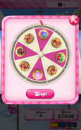Win moves wheel