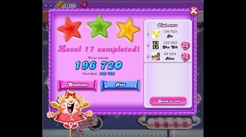 Candy Crush Saga Dreamworld Level 17 ★★★ 3 Stars