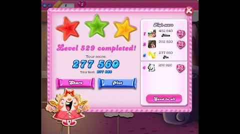 Candy Crush Saga Level 529 ★★★ NO BOOSTER
