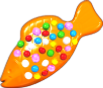 Orange Colour Bomb Fish
