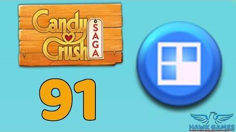 Candy Crush Saga 🎪 Level 91 (Jelly level) - 3 Stars Walkthrough, No Boosters