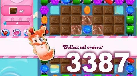 Candy Crush Saga Level 3387 (No boosters)