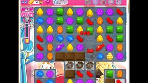 Candy Crush Saga Level 485 - JELLY fish and COLOR BOMB MIX