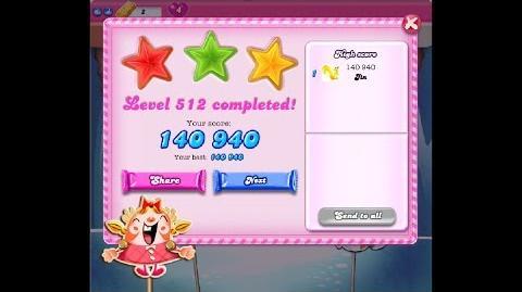 Candy Crush Saga Level 512 ★★★ NO BOOSTER